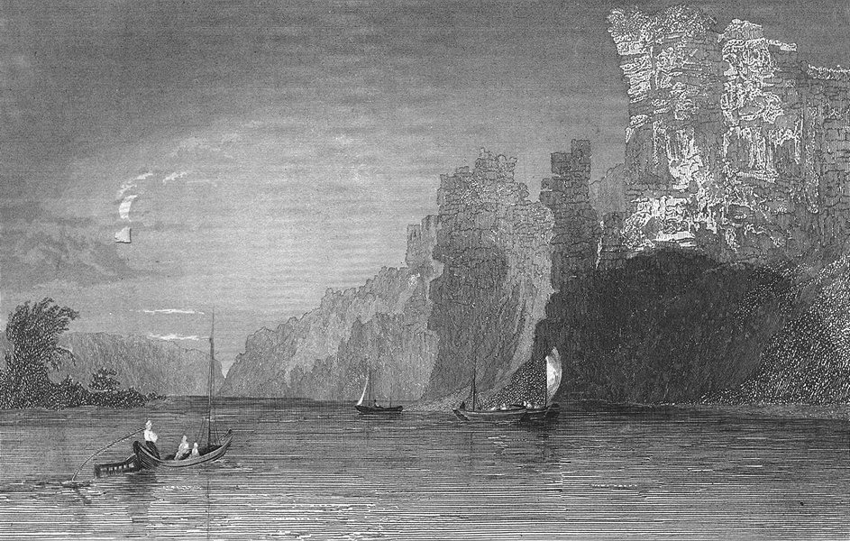 Associate Product BELGIUM. Felsenparthie Maas. Wolff. (river Meuse) 1844 old antique print