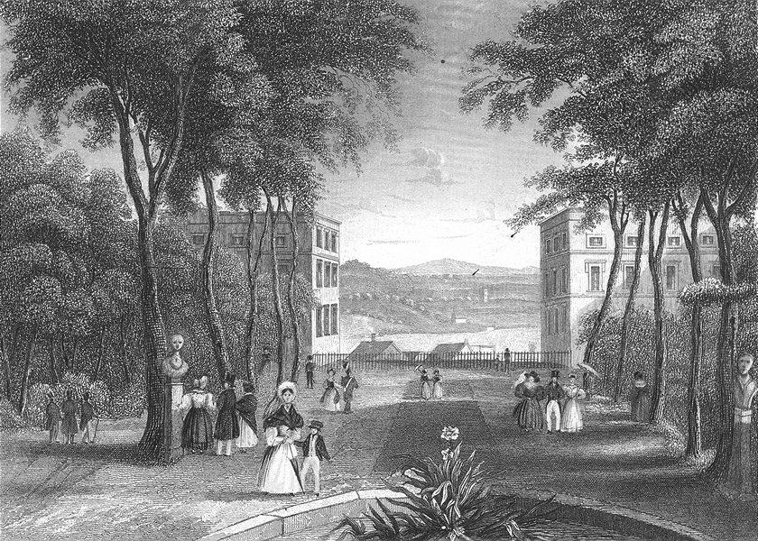 Associate Product BELGIUM. Park Brussel. Wolfe 1844 old antique vintage print picture
