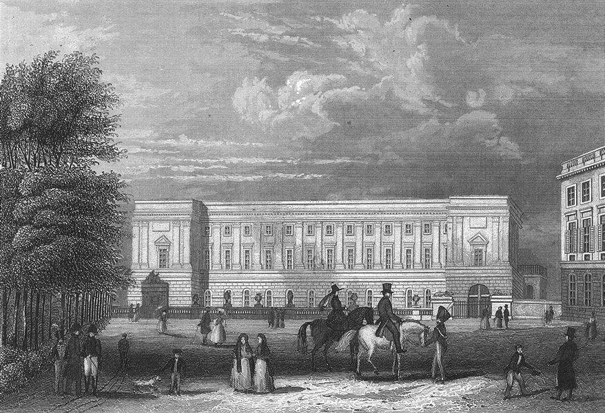 BELGIUM. Palast Prinzen Von Oranien Brussel. Wolfe 1844 old antique print