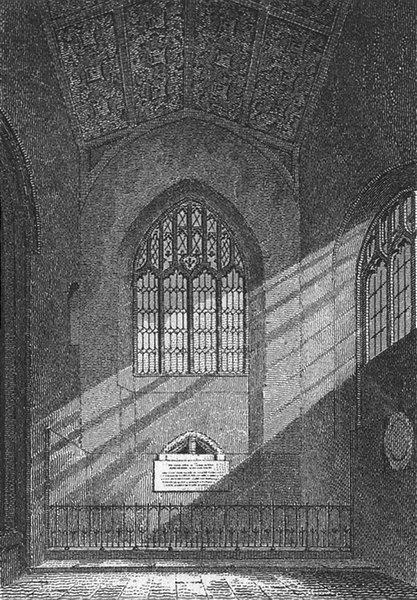 Associate Product ST EDMUNDS. Chapel, E Dereham Church, Norfolk 1812 old antique print picture