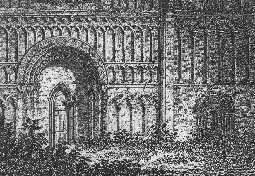 Associate Product NORFOLK. Castle Acre Priory. Kings Lynn Regis 1812 old antique print picture