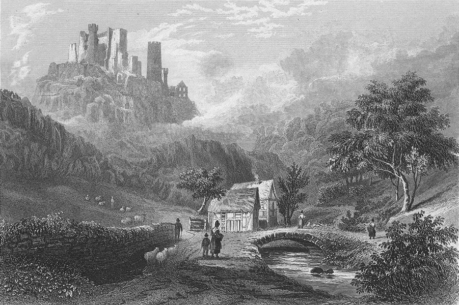 Associate Product GERMANY. Valley Engeholle ruins, Schonberg. Fussell 1840 old antique print