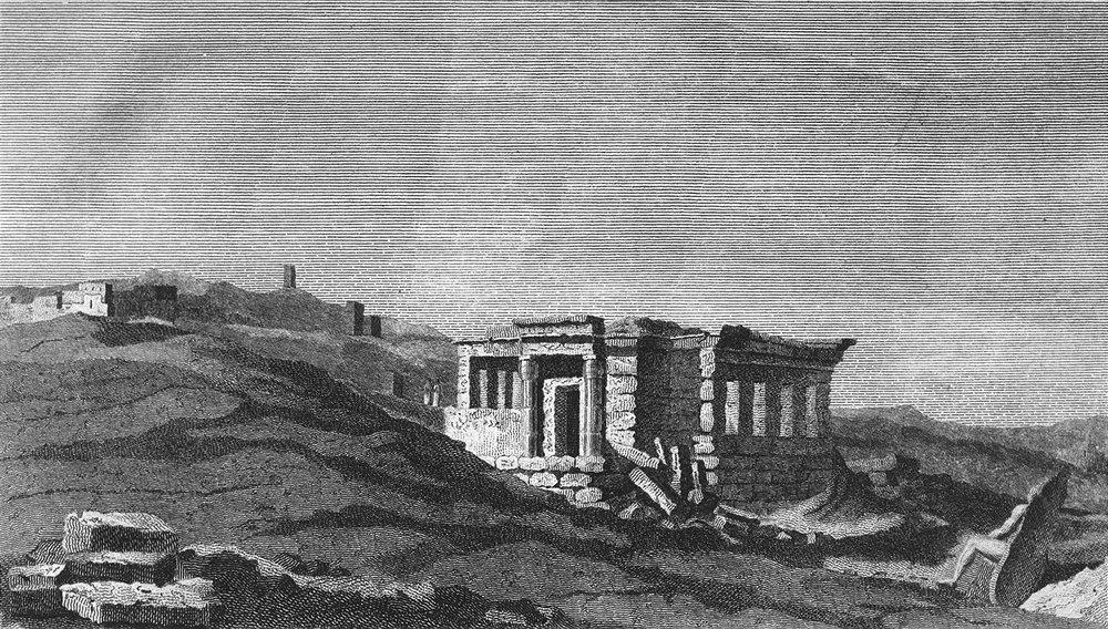 Associate Product BUILDINGS. Ruins, temple, Elephantina c1790 old antique vintage print picture