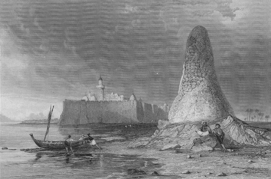 Associate Product BUILDINGS. Burj-Er-Roos, tower of skulls c1840 old antique print picture