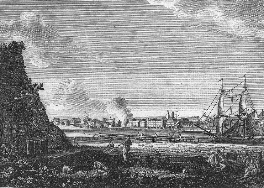 Associate Product FRANCE. Dieppe, Dept of Lower Seine, in c1770 old antique print picture