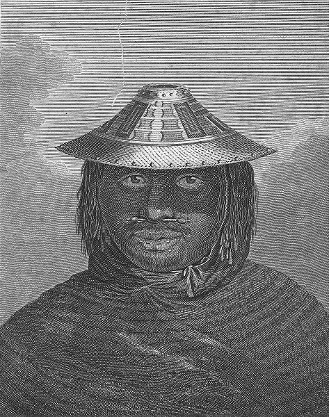 TRIBAL. Savage of Prince Williams Sound, NW America c1770 old antique print