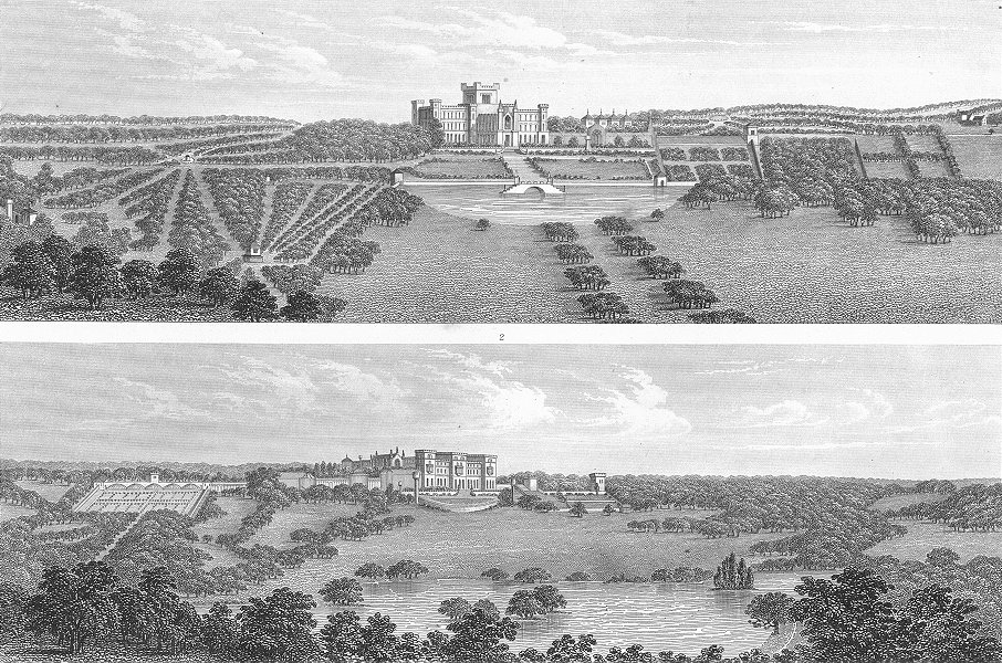 Associate Product LANDSCAPES. Landscape Gardening 1849 old antique vintage print picture