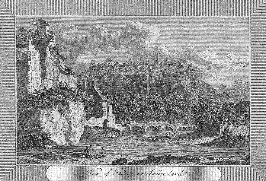 Associate Product SWITZERLAND. Friburg in. Sparrow view river bridge 1827 old antique print