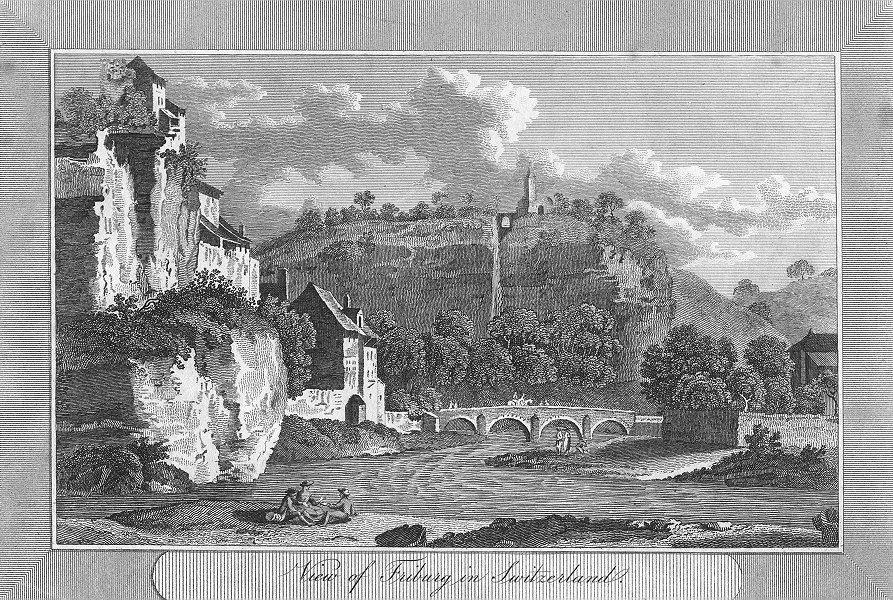 SWITZERLAND. Friburg in. Swiss. Sparrow view river 1810 old antique print