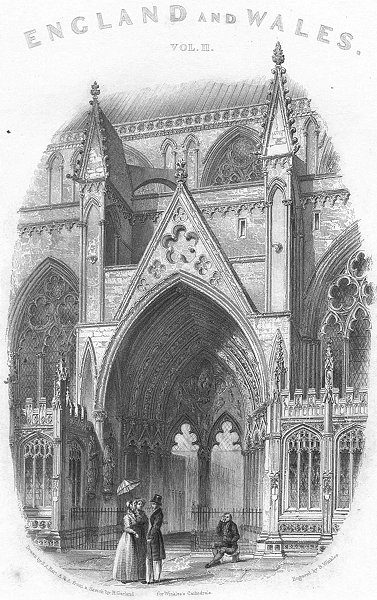 Associate Product LINCS. Lincoln cathedral south entry 1836 old antique vintage print picture