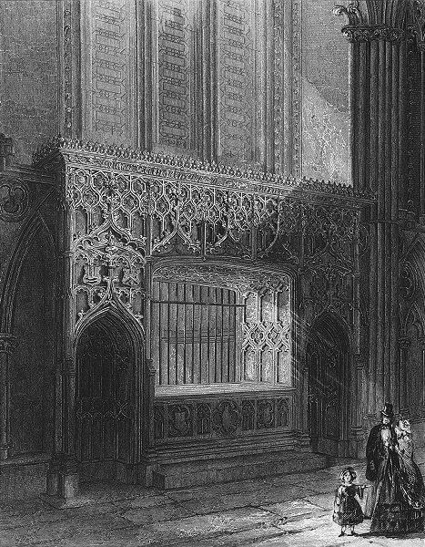 Associate Product LINCOLN. cathedral Bishop Longland's monument 1860 old antique print picture