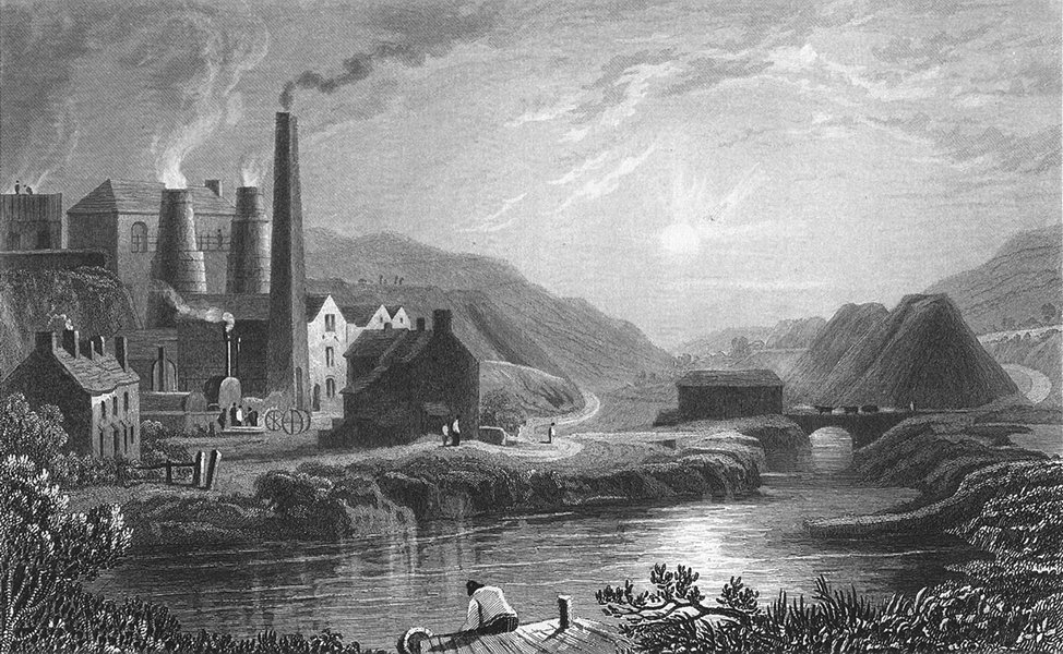 Associate Product MONMOUTH. Coldbrook Vale, Monmouthshire. Gastineau 1831 antique print