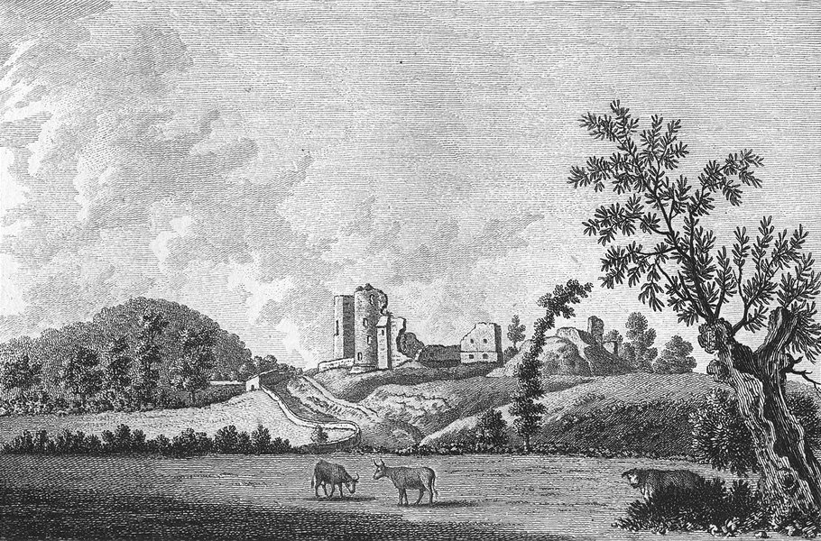 Associate Product ABERGAVENNY. Castle, Monmouthshire. Monmouth Grose 1784 old antique print