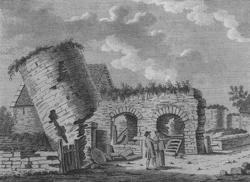 Associate Product MONMOUTH. Roman Tower, Carleon, Mounmouthshire. Grose 1783 old antique print