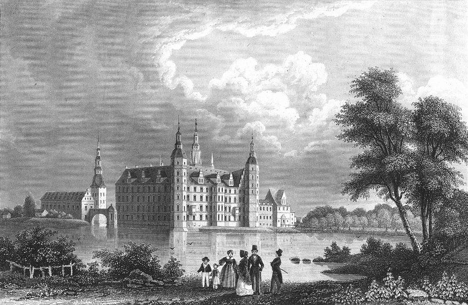 Associate Product COPENHAGEN. Schloss Friederichsburg bey. Castle 1850 old antique print picture