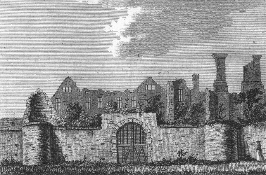 Associate Product LEICS. Leicester Abbey. Grose. Ashby de Zouch 1787 old antique print picture