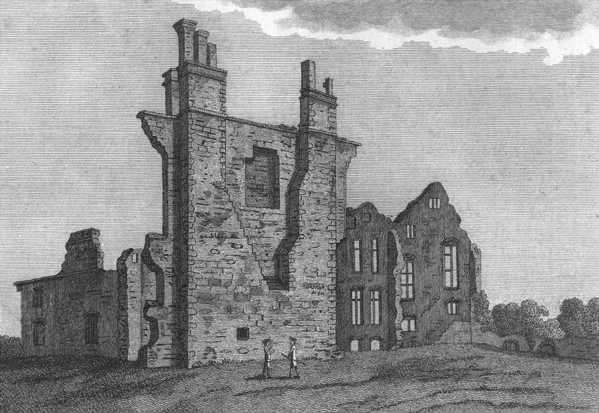 Associate Product LEICS. Leicester Abbey. Grose 1787 old antique vintage print picture