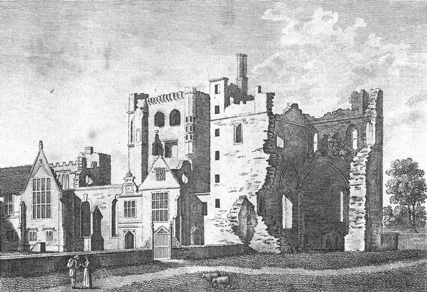 Associate Product LEICS. Ashby de Zouch, Leicestershire. Grose. 18C 1784 old antique print