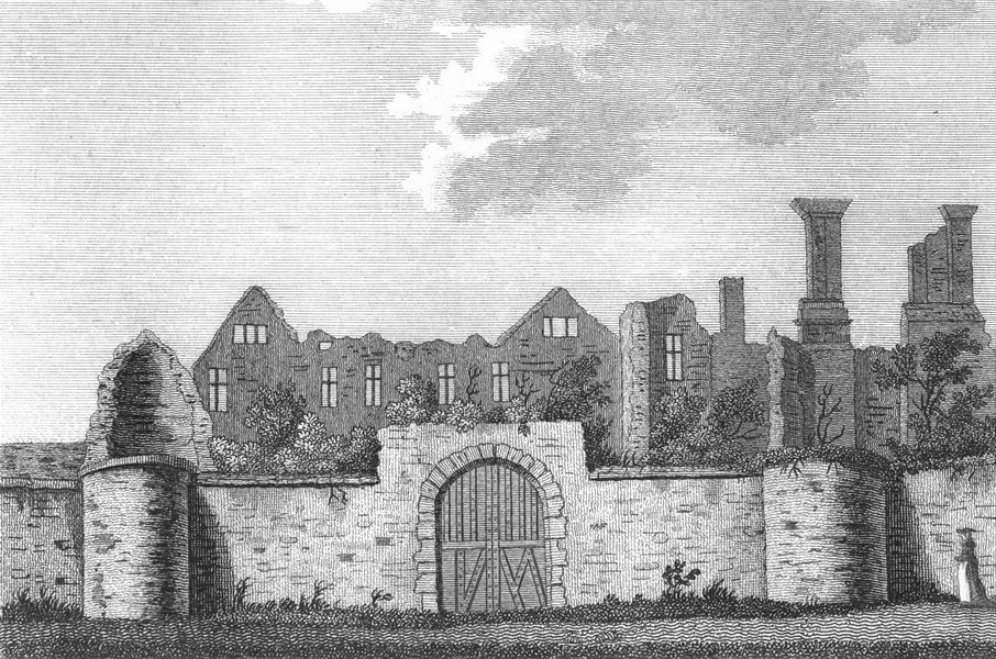 Associate Product LEICS. Leicester Abbey. Grose. 18C 1787 old antique vintage print picture