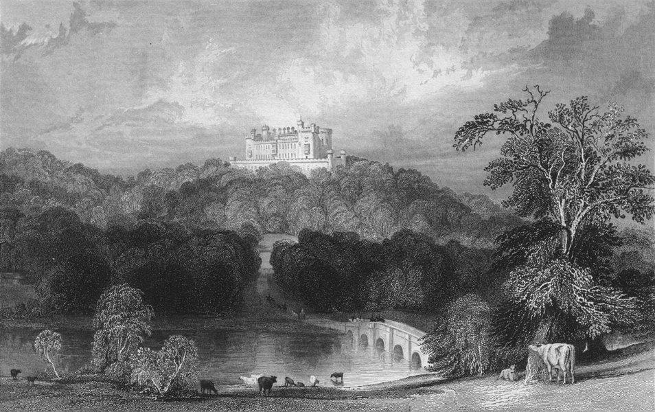 Associate Product LEICS. Belvoir Castle, Leicestershire. Allom 1836 old antique print picture