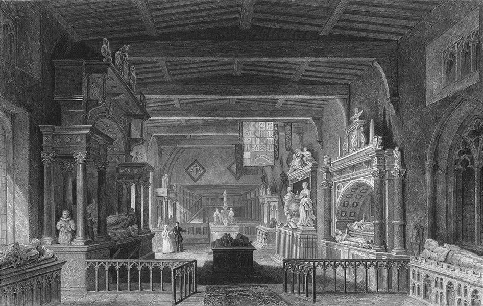 Associate Product LEICS. Monuments Rutland Bottesford Church, Leics  1836 old antique print