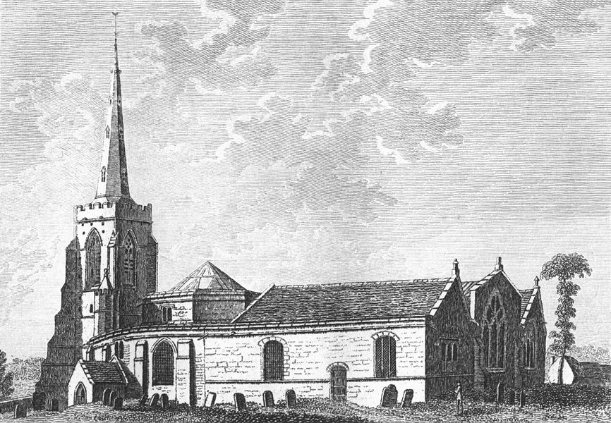 Associate Product NORTHANTS. Sepulchre's(St)Church. Grose. 18C 1784 old antique print picture
