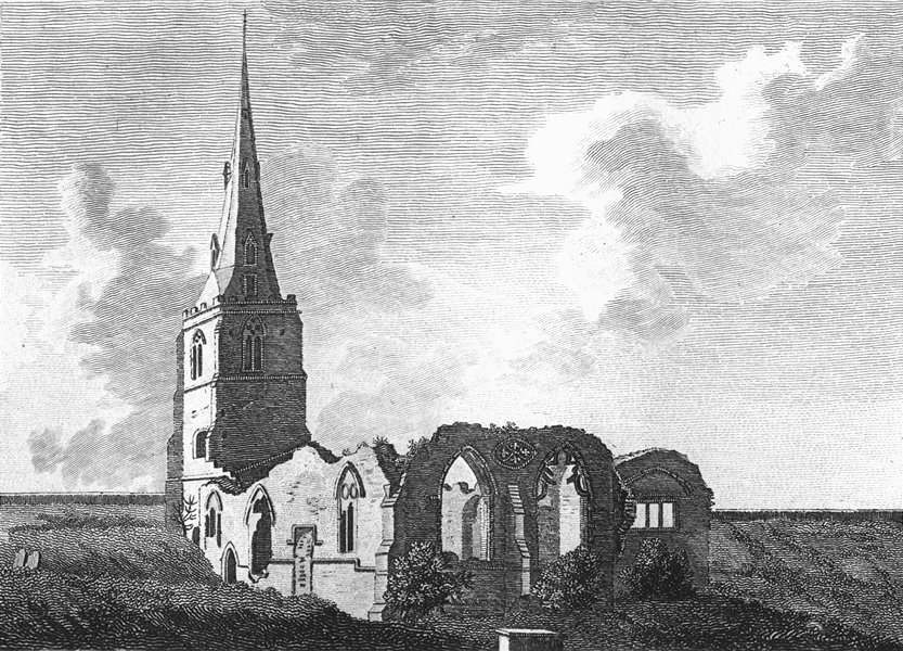 Associate Product NORTHANTS. Boughton Church. Grose. 18C 1784 old antique vintage print picture