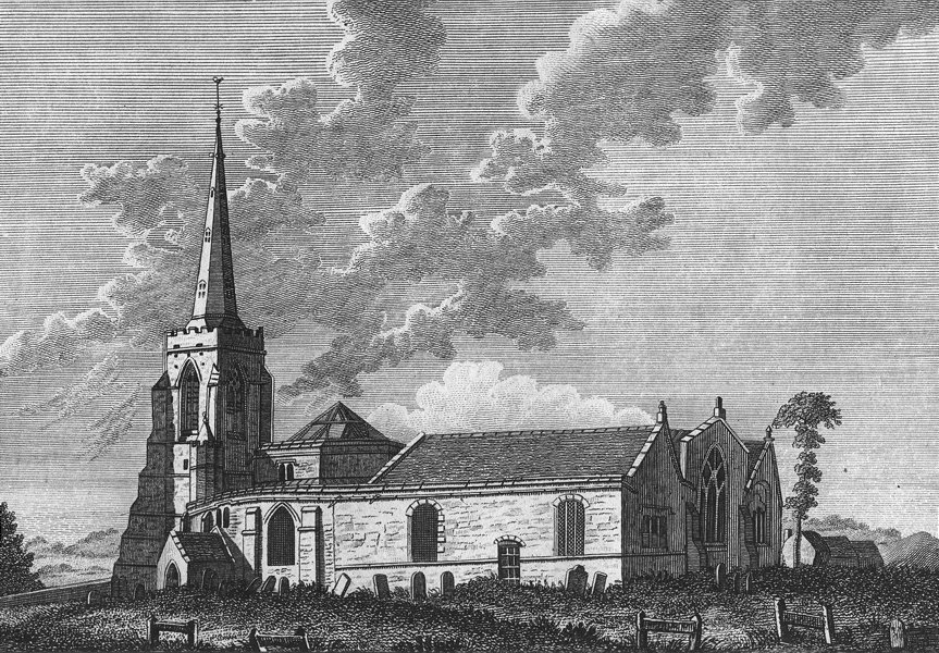 Associate Product NORTHAMPTON. St Sepulchre's Church, in. Boswell Hogg 1790 old antique print