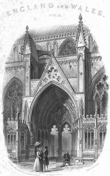 Associate Product LINCS. Lincoln cathedral south entry 1851 old antique vintage print picture