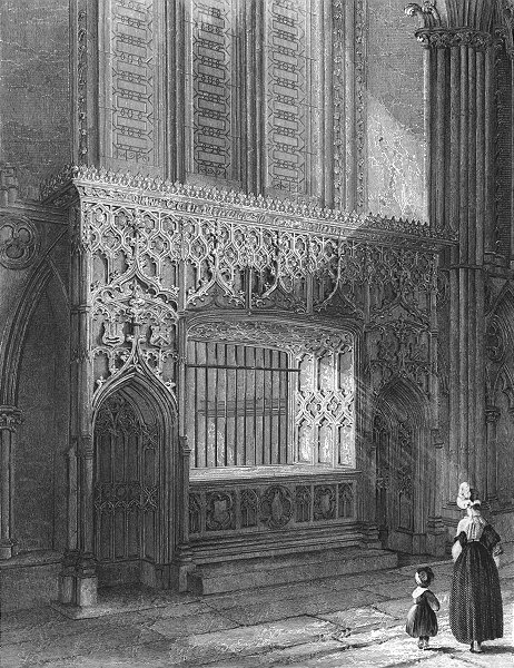 Associate Product LINCOLN. cathedral Bishop Longland's monument 1851 old antique print picture
