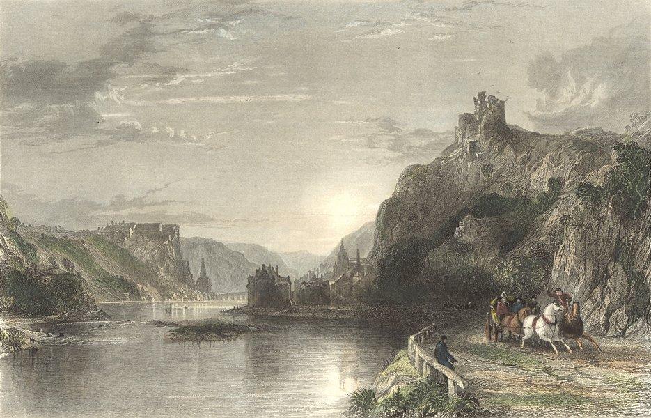 Associate Product FRANCE. Tower of Creve-Coeur, Meuse. Belgium-Rhine 1840 old antique print