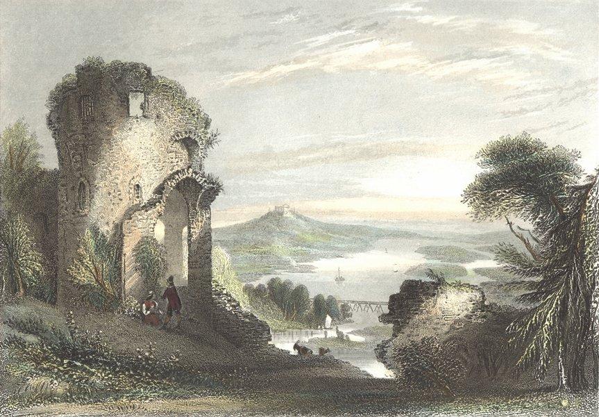 Associate Product GERMANY. Donaustaus(ruins). Donaustauf. Payne Goats 1847 old antique print