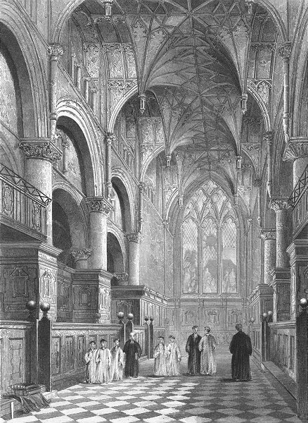 Associate Product OXON. Oxford cathedral Choir 1836 old antique vintage print picture