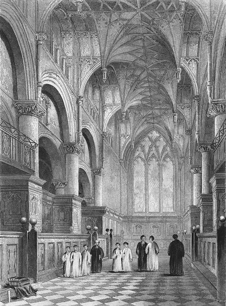 Associate Product OXON. Oxford cathedral Choir 1850 old antique vintage print picture