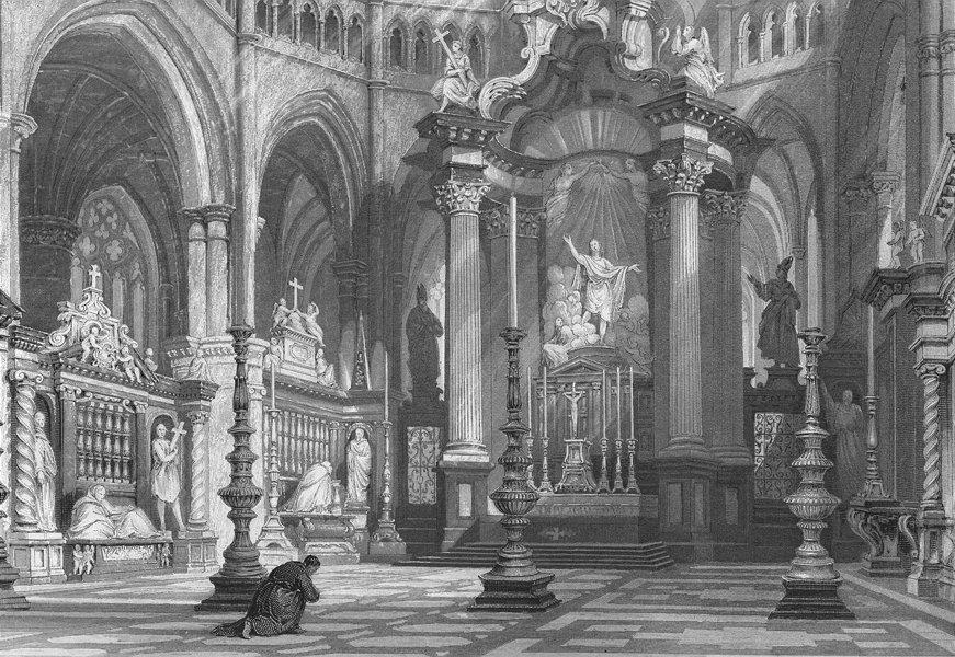 Associate Product BELGIUM. Church St Bavon, Ghent. Wright 1840 old antique vintage print picture