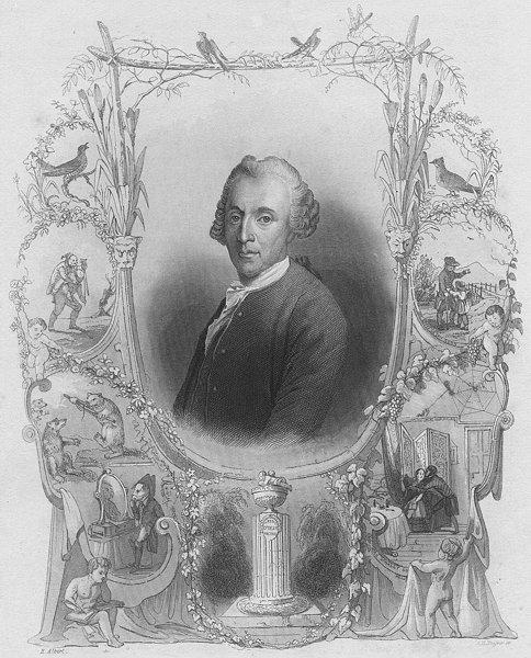 Associate Product GERMANY. Gellert. Payne Portrait 1847 old antique vintage print picture