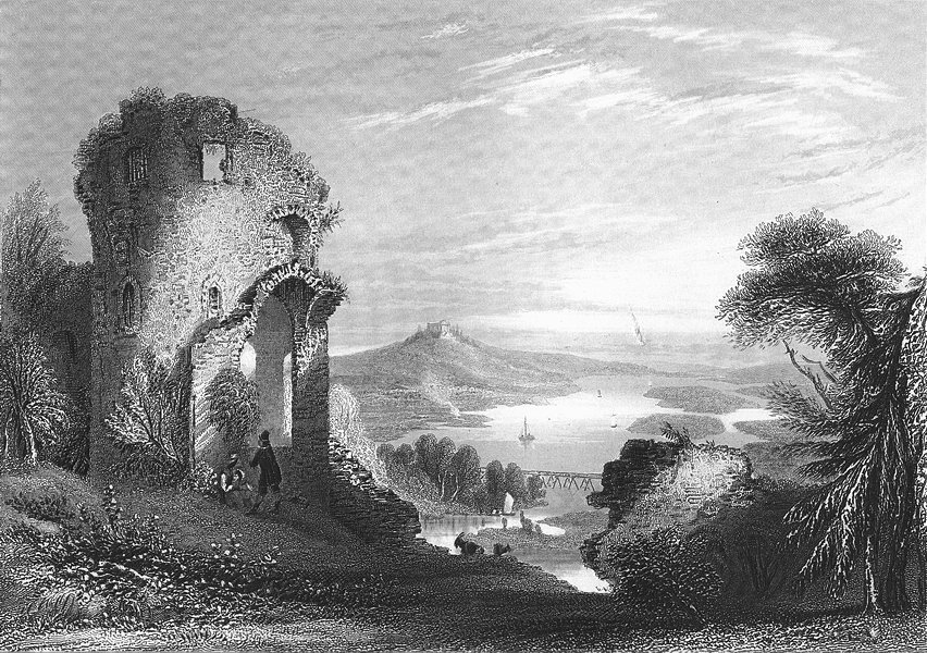 GERMANY. Donaustauf(Ruine). (ruins). Payne Goats 1847 old antique print