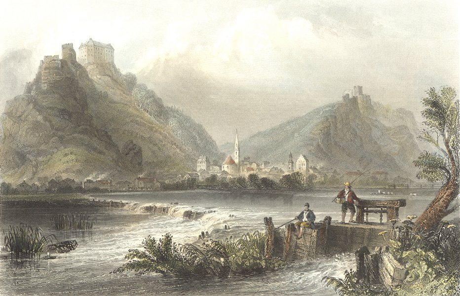 Associate Product GERMANY. Altmuhl-thal(Bavaria). Bartlett-Fishermen 1842 old antique print