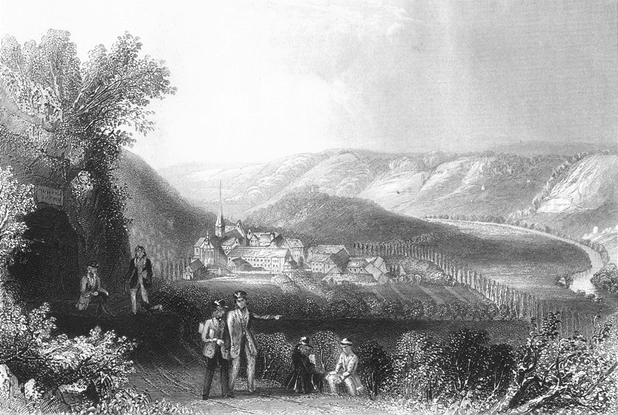 Associate Product GERMANY. Schulpforte. Payne Mountains 1847 old antique vintage print picture