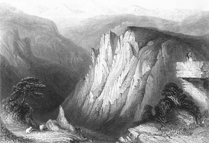 Associate Product GERMANY. Student's Cliff, Hertz Mtns. Payne couple 1847 old antique print