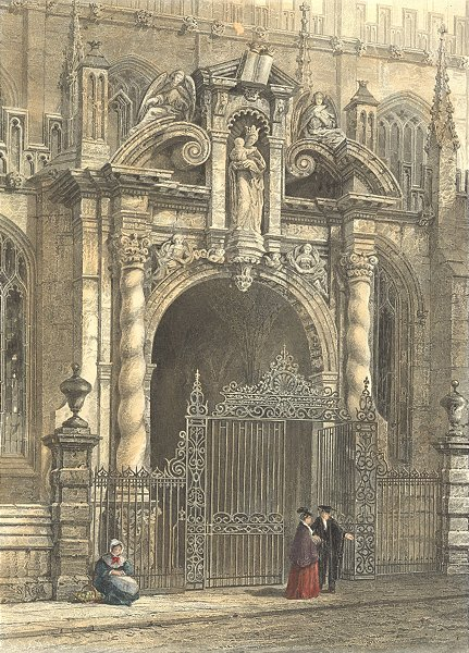 Associate Product OXON. St Mary's Porch, Oxford. Europe 1873 old antique vintage print picture