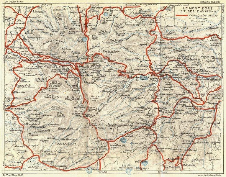 Associate Product FRANCE. Le Mont Dore Et Ses Environs 1926 old vintage map plan chart