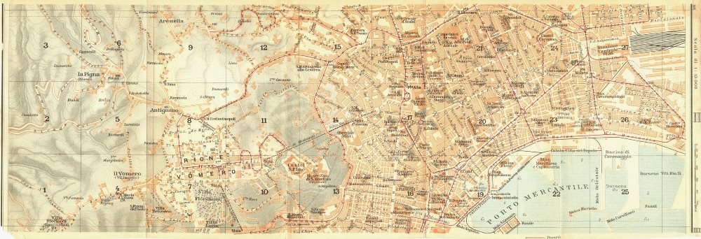 Associate Product ITALY. Napoli section II of III 1925 old vintage map plan chart