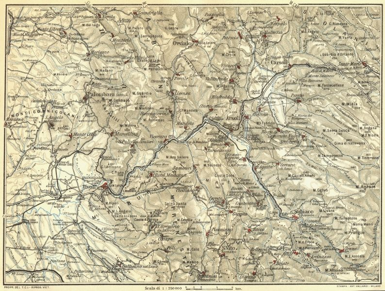 Associate Product ITALY. Western Environs of Naples 1925 old vintage map plan chart