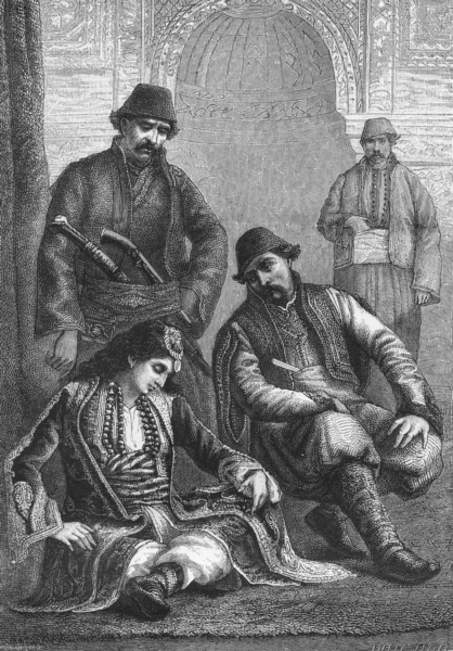 Associate Product TURKEY. Muslim of Edirne & lady Prisrend c1885 old antique print picture