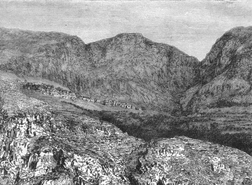 Associate Product GREECE. Mount Parnassus & Delphi c1885 old antique vintage print picture