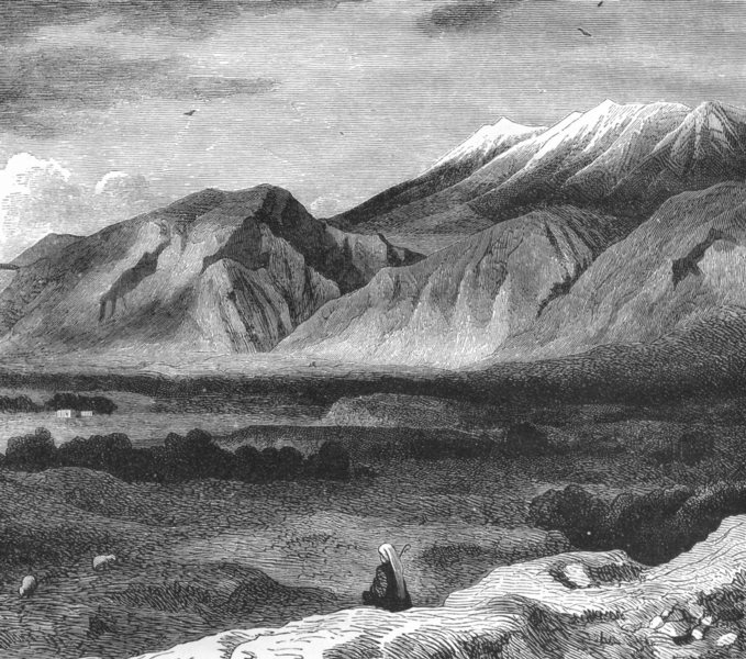 Associate Product GREECE. Mount Taygetus c1885 old antique vintage print picture