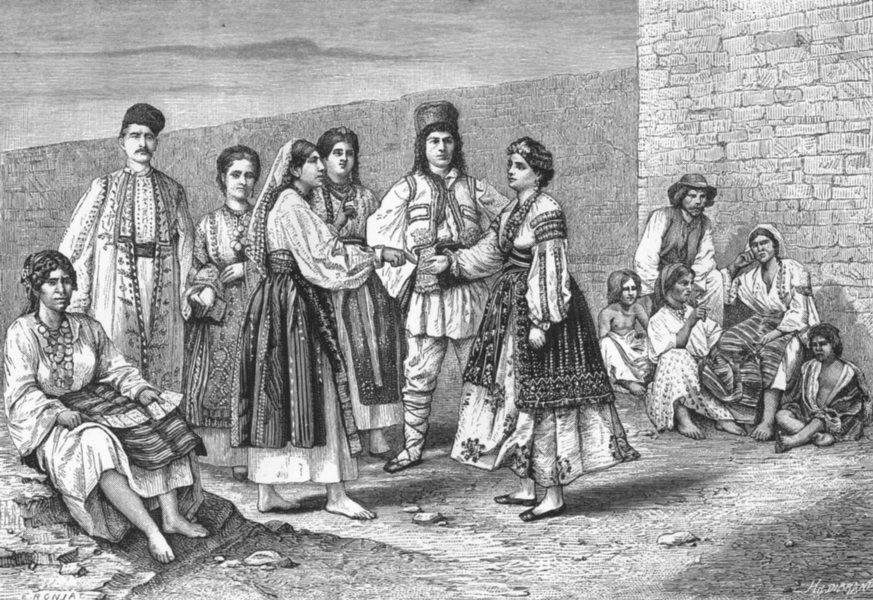 Associate Product ROMANIA. Wallachians(Valakhs) c1885 old antique vintage print picture