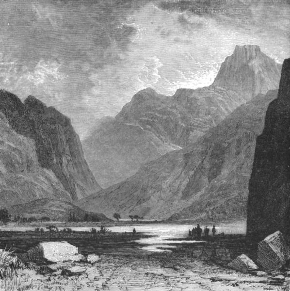 CRETE. Gorge of Agia Roumeli c1885 old antique vintage print picture