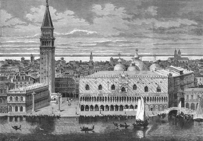 Associate Product VENICE. Venice c1885 old antique vintage print picture